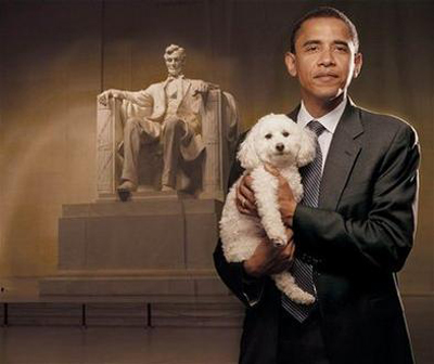 obama_puppy_and_lincoln
